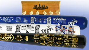 Dodgers3batSet MediumWithRack