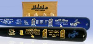 DodgersWStwotoneMVP2batSet MediumWithRack 1