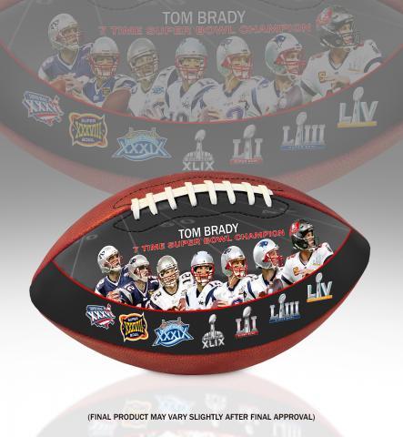 TomBrady7TimeSuperBowlChampionArtFootball 2shot