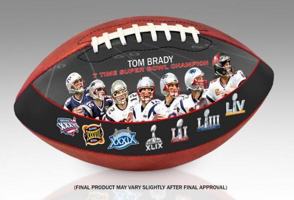 TomBrady7TimeSuperBowlChampionArtFootball