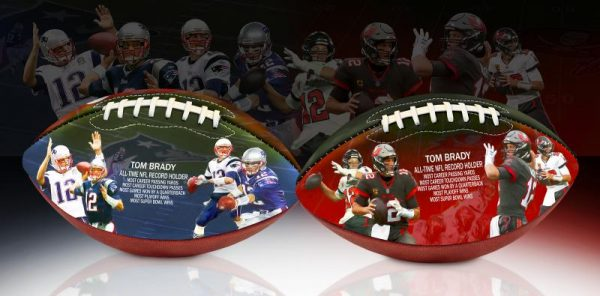 BradyRecordFootball 2shotWithArtBackground 1